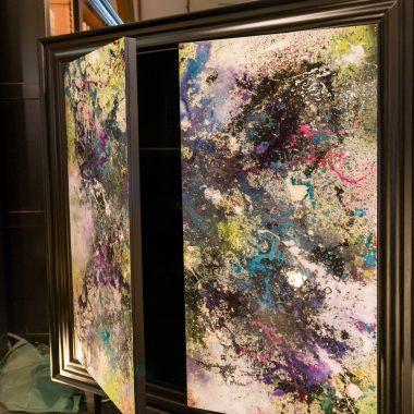 Portes de meuble peintes
